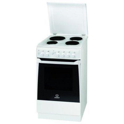 Электрическая плита Indesit KN1E17A(W)/RU белый (KN1E17A(W)/RU)Электрические плиты Indesit<br>85х50х50, эмаль, электрическая<br>