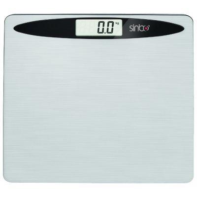 Весы Sinbo SBS 4419 (SBS 4419)Весы Sinbo<br>Нержавеющая сталь; цифровой дисплей; шаг 100 гр; максимум 150 кг<br>