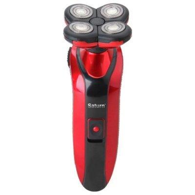 Бритва Saturn ST-HC 7394 Red (ST-HC 7394 Red)Электрические бритвы Saturn <br>роторная система бритья, 4 бритвенные головки, сухое бритье, питание: от аккумулятора, время автономной работы 90 мин<br>
