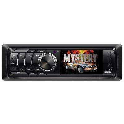 Автомагнитола Mystery MMR-393C (MMR-393C)Автомагнитолы Mystery<br>4x50 Вт, тюнер (FM, СВ), MP3, WMA, JPEG, выход на сабвуфер, разъем USB, многоцветный дисплей, диагональ: 3, 1 DIN<br>