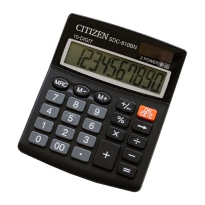 Калькулятор Citizen SDC-810BN черный (SDC-810BN)Калькуляторы CiTiZeN<br>10-разр. % бухгалтерский<br>