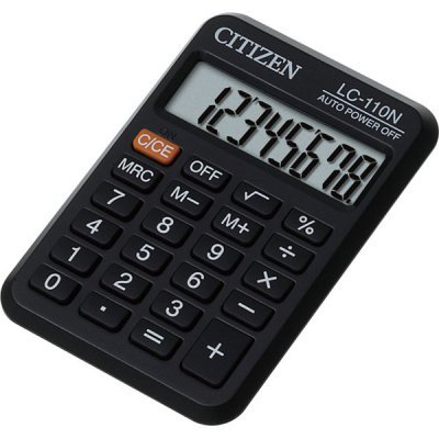 Калькулятор Citizen LC-110N черный (LC-110N)