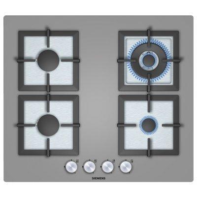 Газовая варочная панель Siemens EP618HB21E (EP618HB21E)Газовые варочные панели Siemens<br>Ширина 60см., закаленное стекло, 4 конфорки, WOK-конфорка, чугунные решетки, термоэлектрическая защита от утечки газа, автоматический электроподжиг<br>