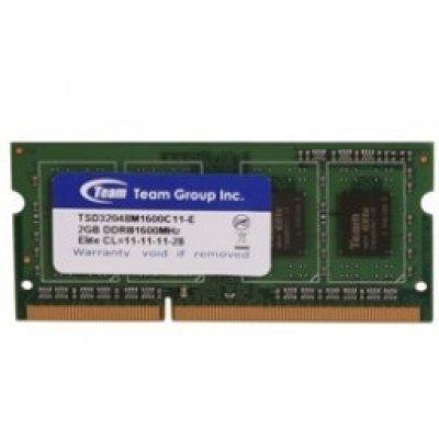 Модуль памяти 4Gb TEAM Elite DDR-III SO-DIMM 1600MHz CL11_11_11_28 (765441603363) (TED34G1600C11-S01)Модули оперативной памяти ПК Team Group<br>204Pin Unbuffered SO-DIMM Non ECC<br>