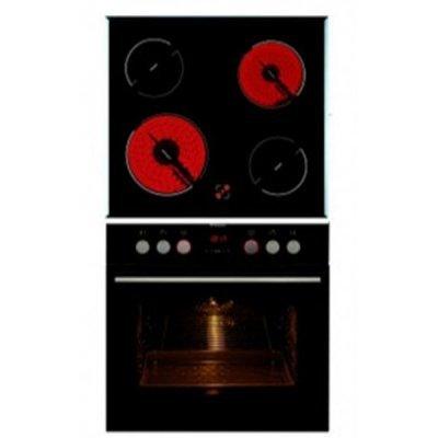 Комплект духовой шкаф и панель Hansa BCCB64195055 (BCCB64195055)Комплекты встраиваемой техники Hansa<br>Встраиваемый. Рабочая поверхность: стеклокерамика без рамки, Нагревательные элементы: Hi light (2 х 14,5 см / 1 х 18,0 см / 1 х 21 см). Электрическая духовка: Multi 6, гриль, конвекция, размораживание<br>