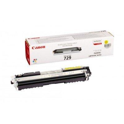 Тонер картридж Canon 729Y yellow для i-Sensys LBP-7010C/7018C 1 000 стр. (4367B002) (4367B002) картридж t2 для hp tc h85a laserjet p1102 1102w pro m1132 m1212nf m1214nfh canon i sensys lbp6000 cartrige 725 1600 стр с чипом