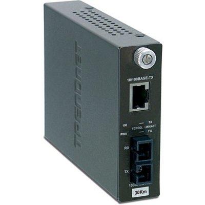 TFC-110S30 Одномодовый оптоволоконный медиа-конвертер с оптическим портом (TFC-110S30)
