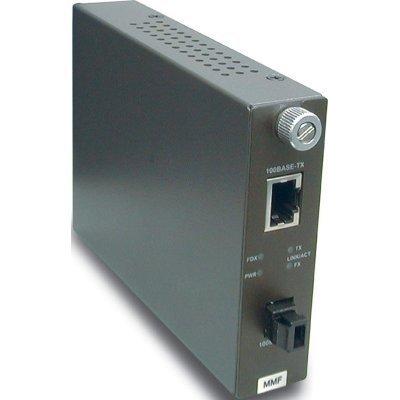 TFC-110MM Многомодовый оптоволоконный медиа-конвертер с оптическим портом (TFC-110MM)Медиаконвертеры TRENDnet<br>Многомодовый оптоволоконный медиа-конвертер с оптическим портом 100Base-FX разъём MT-RJ, поддерживающим работу на расстоянии до 2 км, и Ethernet-портом 100Base-TX<br>