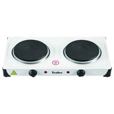 Электрическая плитка Tesler PE-20 белый (PE-20 White)Электрические плиты Tesler<br>электрическая варочная поверхность (эмаль), духовка отсутствует, размеры (ШхГхВ): 48.5x26x7.5 см, цвет: белый<br>