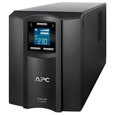 Источник бесперебойного питания APC Smart-UPS C 1000VA 600W (SMC1000I) ибп apc smc1000i 2u smart ups 1000va 600w
