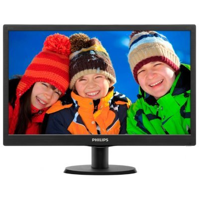 Монитор 19,5 Philips 203V5LSB26 Black (203V5LSB26/62)Мониторы Philips<br>LED, 1600x900, 5 ms, 90°/50°, 200 cd/m, 10M:1, VGA, Black<br>
