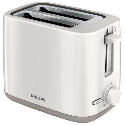 Тостер Philips HD 2595/00 белый (2595/00)Тостеры Philips<br>на 2 тоста<br>мощность 800 Вт<br>механическое управление<br>функция размораживания<br>ненагревающийся корпус<br>отсек для сетевого шнура<br>