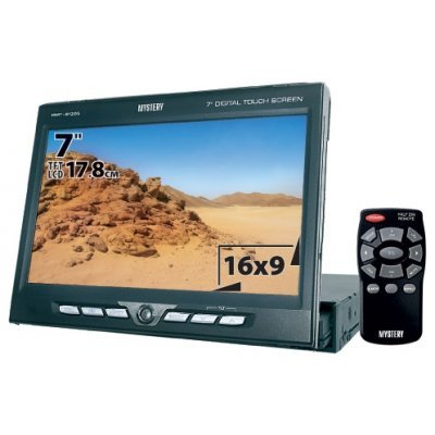 Автомагнитола Mystery MMT-9135S (MMT-9135S)Автомагнитолы Mystery<br>4х50 Вт, DVD/VCD/DivX/WMA/CD/CD-R/CD-RW/MP3/MKV(H.264)-проигрыватель, моторизованый 7 монитор с активной матрицей, USB-порт, SD-слот, AM/FM-радио, изменяемая подсветка 100тыс цветов, TV-тюнер, совместимость со штатными кнопками на руле<br>