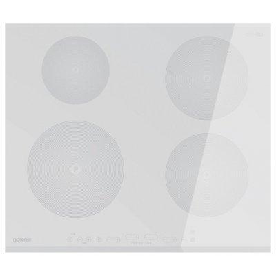 Электрическая варочная панель Gorenje IT641-ORA-W белый (IT641-ORA-W)Электрические варочные панели Gorenje<br>Встраиваемая 4.7x60x51 см, индукционная, стеклокерамика, независимая<br>