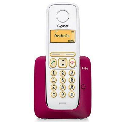 Радиотелефон Siemens Gigaset A130 Бордовый (S30852-H2414-S303)Радиотелефоны Siemens<br>DECT, Bordeaux<br>