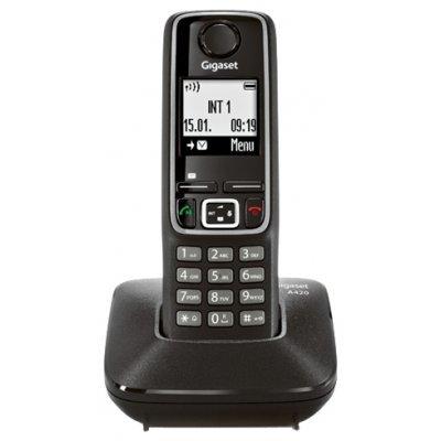 Радиотелефон Siemens Gigaset A420 черный (GIGASET A420 Black)