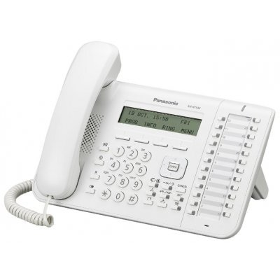 IP телефон Panasonic KX-NT543 белый (KX-NT543RU)VoIP-телефоны Panasonic<br>диспл. 3 строки, 24 клавиши, 2 Ethernet порта, спикерфон, для KX-TDE, KX-NCP(v7.10 и выше) , KX-NS1000(v2.0 и выше), поддержка PoE<br>