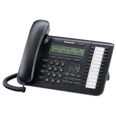IP-телефон Panasonic KX-NT543 черный (KX-NT543RU-B) телефон ip panasonic kx hdv130rub черный