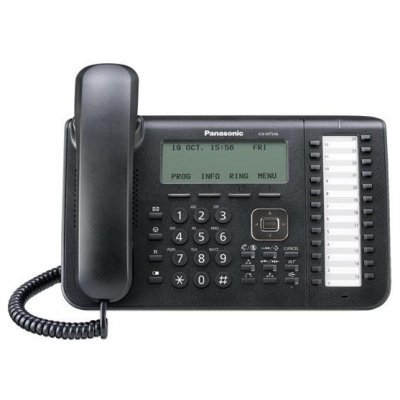 IP телефон Panasonic KX-NT546 черный (KX-NT546RU-B) телефон ip panasonic kx hdv130rub черный