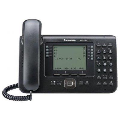 IP-телефон Panasonic KX-NT560RU-B чёрный (KX-NT560RU-B)VoIP-телефоны Panasonic<br>диспл. ЖК 4,4, 32 клавиши, Встроенный Bluetooth, 2 Ethernet порта, спикерфон, для KX-TDE, KX-NCP (v7.10 и выше) , KX-NS1000 (v2.0 и выше), поддержка PoE<br>