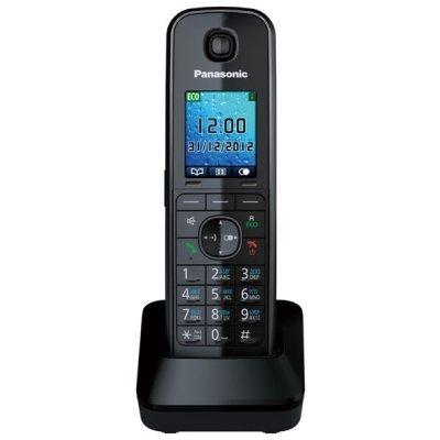 Дополнительная радиотрубка Panasonic KX-TGA815 черный (KX-TGA815RUB)Радиотелефоны Panasonic<br>для KX-TG8151/8161, с зарядным устройством<br>