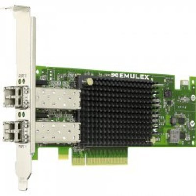 Контроллер Fibre Channel Dell Emulex LPE12002 (406-10691) (406-10691) адаптер dell qlogic 2562 dual port 8gb fibre channel hba pci e x8 full profile kit 406 bbek