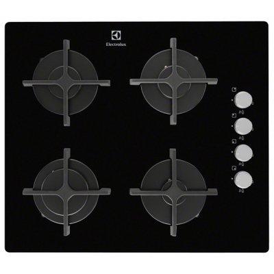 Газовая варочная панель Electrolux EGT56142NK черный (EGT56142NK)Газовые варочные панели Electrolux<br>59х52, газовая вар.поверхность, закаленное стекло, независ.,<br>