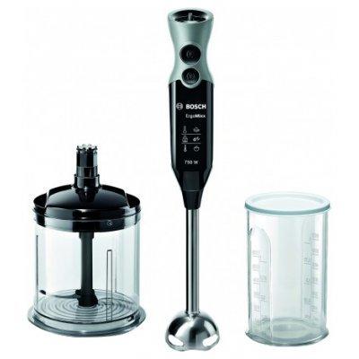 Блендер Bosch MSM 67140 черный-серый (MSM 67140RU)Блендеры Bosch<br>750Вт, черный/серый ножка нерж сталь, мягкая ручка, 12 скоростей+турбо, стакан, XL-измельчитель<br>