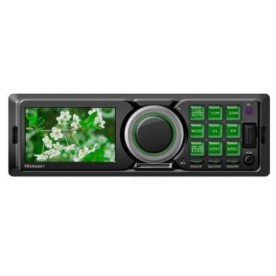 Автомагнитола Rolsen RCR-300G (RCR-300G)Автомагнитолы Rolsen<br>Мультимедиа ресивер 1DIN, выходная мощность 4х60Вт, FM радио, память на 18 станций, 3 TFT LCD, поддержка форматов MPEG/MP3/WMA/OGG/AAC/JPG/BMP, эквалайзер, порты USB/SD/MMC, фиксированная панель, ISO адаптер, пульт ДУ, зеленая подсветка<br>