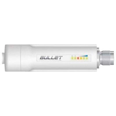 Wi-Fi точка доступа Ubiquiti Bullet M5 HP (BULLETM5-HP)Wi-Fi точки доступа Ubiquiti<br>Ультракомпактная всепогодная Wi-Fi AP/bridge/CPE, 802.11a/n, 5 ГГц, разъем N-male<br>