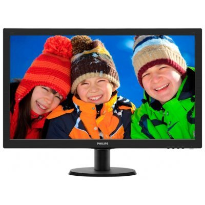 Монитор Philips 27 273V5LSB (273V5LSB/00/01)Мониторы Philips<br>27 PHILIPS 273V5LSB/00(01) Black (LED, LCD, Wide, 1920x1080, 5 ms, 170°/160°, 300 cd/m, 10M:1, +DVI)<br>
