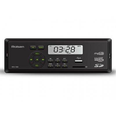 Автомагнитола Rolsen RCR-100G (1-RLCA-RCR-100G)Автомагнитолы Rolsen<br>автомагнитола 1 DIN<br>воспроизведение MP3<br>макс. мощность 4 x 45 Вт<br>воспроизведение с USB-накопителя<br>радиоприемник <br>поддержка карт памяти SD<br>