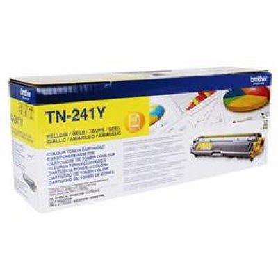 Тонер-картридж Brother TN-241Y (TN241Y)Тонер-картриджи для лазерных аппаратов Brother<br>(1400 стр.) HL3140/3170<br>