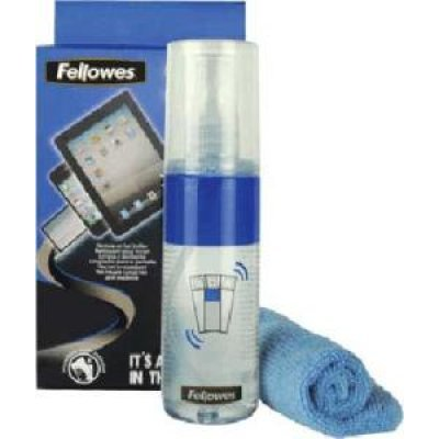 Набор для чистки экранов Fellowes FS-9922101 (FS-9922101)Наборы для чистки экранов Fellowes<br>Качественное и безопасное очищение и полировка. Не содержит абразивов. Содержание спиртов в составе - менее 1%. Предназначен для качественной очистки и полировки экранов устройств с сенсорными экранами. Удаляет отпечатки пальцев. Удобная и компактная упаковка, произведено в Великобритании.<br>