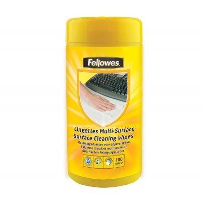 Салфетки для любых поверхностей Fellowes FS-99715 (FS-99715)Салфетки для любых поверхностей Fellowes<br>Салфетки Fellowes для любых поверхностей (клавиатур, принтеров и другого компьютерного оборудования).  Антистатические свойства предотвращают накапливание пыли и грязи. Салфетки не содержат спирта, дерматологически безопасны и не оставляют разводов. Запасной блок: Fellowes FS-99716.<br>