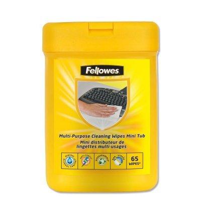 Салфетки для любых поверхностей Fellowes, дерматологически безопасные, 65шт. в тубе Handy Pocket (FS-99705) (FS-99705)Салфетки для любых поверхностей Fellowes<br>Салфетки Fellowes для любых поверхностей (клавиатур, принтеров и другого компьютерного оборудования). Антистатические свойства предотвращают накапливание пыли и грязи. Салфетки не содержат спирта, дерматологически безопасны и не оставляют разводов. Удобная карманная упаковка.<br>