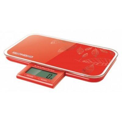 Весы кухонные Redmond RS-721 красный (RS-721 (RED)) кухонные весы redmond rs 736 полоски