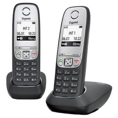 Радиотелефон Gigaset A415 Duo черный (L36852-H2505-S301)Радиотелефоны Gigaset<br>2 трубки<br>