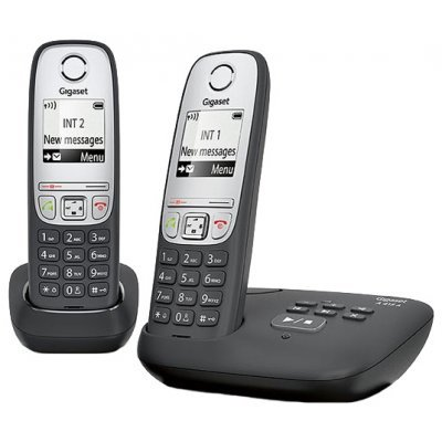 Радиотелефон Gigaset A415 A Duo черный (A415 AM DUO) дополнительная трубка gigaset a220h для a220