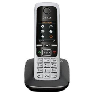 Радиотелефон Gigaset C430 черный (C430)Радиотелефоны Gigaset<br>комплект из базы и трубки<br>поддержка стандартов DECT/GAP<br>определитель номеров (АОН/Caller ID)<br>аккумуляторы: AAAx2<br>