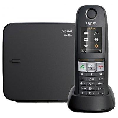 Радиотелефон Gigaset E630 A черный (E630A)Радиотелефоны Gigaset<br>автооветчик IP65 (пылевлагозащищенный, ударопрочный)<br>