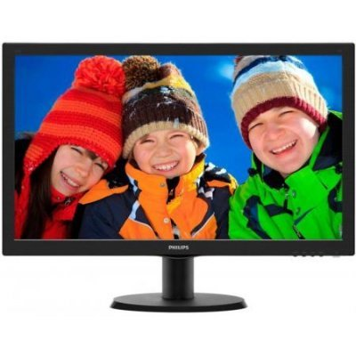 Монитор Philips 23.6 243V5LAB (243V5LAB (00/01)) philips 243v5lsb 00 01 glossy black монитор