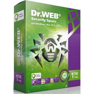 Антивирус Dr. Web Security Space Pro для Windows, картонная упаковка (на 12 мес.) на 1 ПК (AHW-B-12M-1-A2) антивирус dr web 2 устройства 2 года цифровая версия