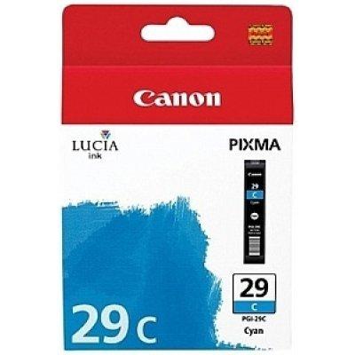 Картридж для струйных аппаратов Canon PGI-29C (4873B001) голубой (4873B001) картридж для струйных аппаратов canon pgi 2400xl c для maxify ib4040 мв5040 и мв5340 голубой 9274b001 9274b001