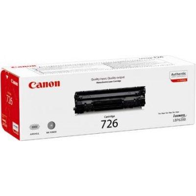 Тонер-картридж для лазерных аппаратов Canon 726 (3483B002) черный (3483B002)Тонер-картриджи для лазерных аппаратов Canon<br>LBP 6200d 2100<br>
