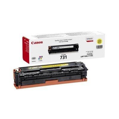 Тонер-картридж для лазерных аппаратов Canon 731Y (6269B002) желтый (6269B002)Тонер-картриджи для лазерных аппаратов Canon<br>LBP7780 (6400стр.)<br>