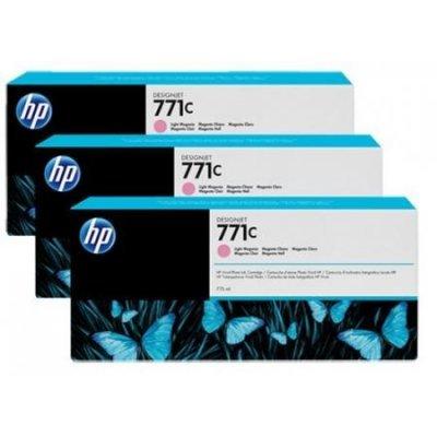 Картридж для струйных аппаратов HP 771C (B6Y35A) светло-пурпурный (B6Y35A)Картриджи для струйных аппаратов HP<br>для HP Designjet Z6200 Printer series 775 мл, 3 шт. в упаковке<br>