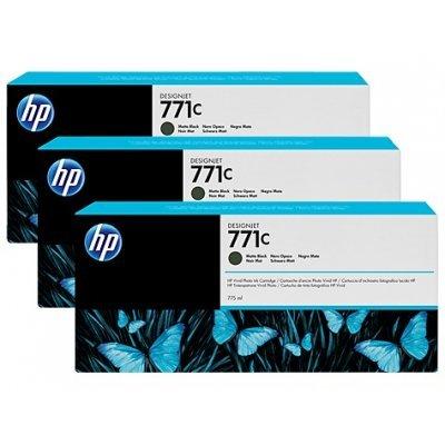 Картридж для струйных аппаратов HP 771C (B6Y31A) черный матовый (B6Y31A)Картриджи для струйных аппаратов HP<br>для HP Designjet Z6200 Printer series 775 мл, 3 шт. в упаковке<br>