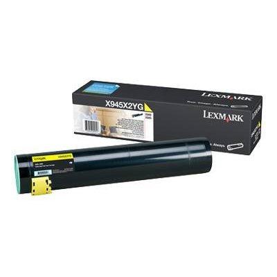 Тонер-картридж для лазерных аппаратов Lexmark X945X2YG желтый (X945X2YG)Тонер-картриджи для лазерных аппаратов Lexmark<br>для X94X (22 000 стр)<br>
