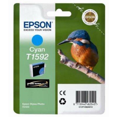 Картридж для струйных аппаратов Epson C13T15924010 голубой (C13T15924010)Картриджи для струйных аппаратов Epson<br>для Stylus Photo R2000<br>